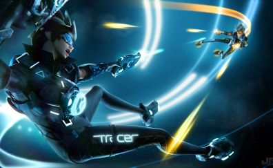 Tracer of overwatch game