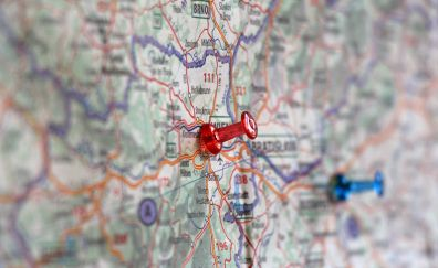 Map route close up