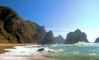The cliffs of Praia da Ursa nature