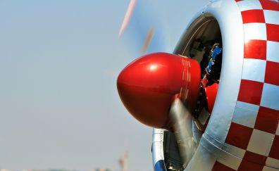 Aircraft, airplane, close up, fan