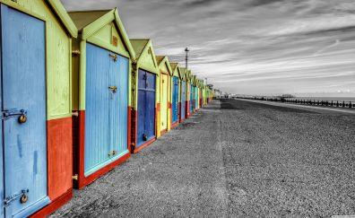 Rainbow of huts