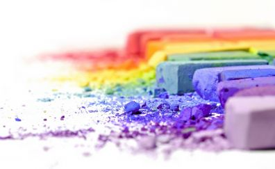 Macro colorful chalk