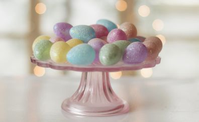 Easter, colored eggs, colorful