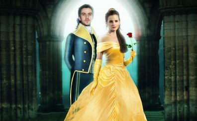 Dan stevens and emma watson in beauty and the beast movie