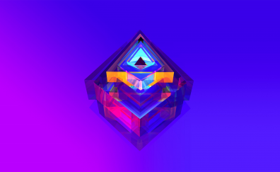Facet, colorful. abstract wallpaper