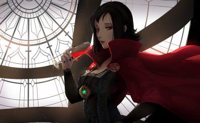 Red eye anime girl