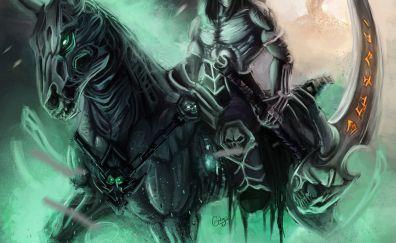 Darksiders video game, scythe, art