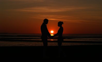 Valentines day, love, couple, proposal, sunset