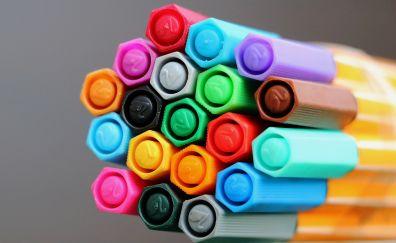 Colorful pen, close up