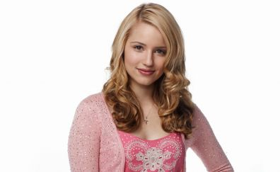 Dianna Agron, blonde girl, smile, 4k