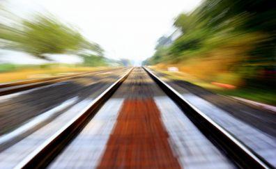 Rail road, motion blur