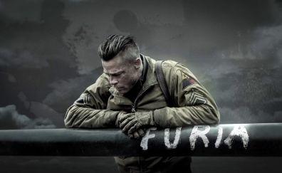 Brad Pitt in Fury, 2014 movie