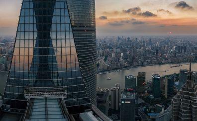 Shanghai City's skyscraper