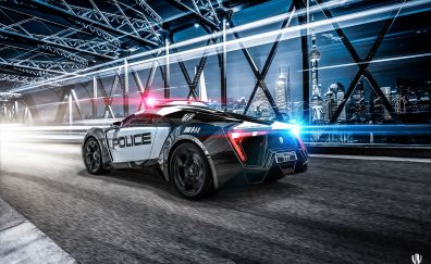 Police car from video game