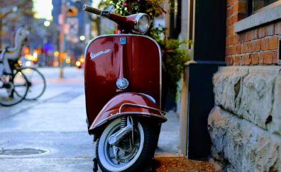 Classic bike, vespa, bike