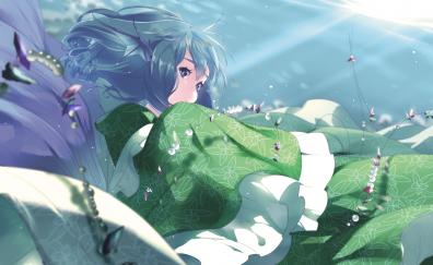 Wakasagihime, Touhou, anime girl