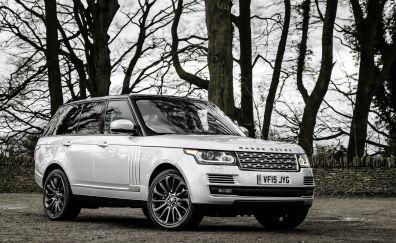 Range rover white SUV car