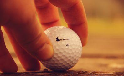 Golf, sports, ball, hand