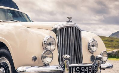 Bentley Continental, luxury car, bonnet, headlight