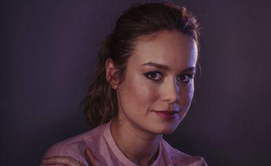 Brie Larson, brunette, face