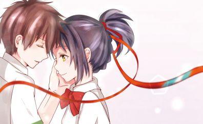 Mitsuha Miyamizu, Taki Tachibana, Kimi no Na wa., anime couple
