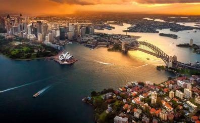 Sydney australia city aerial view