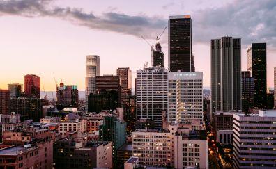 Los Angeles, City, skyscrapers, buildings, 4k