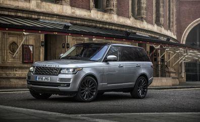 Range Rover silver car