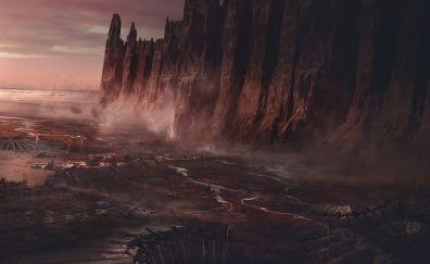 Abandon base, mountains, art
