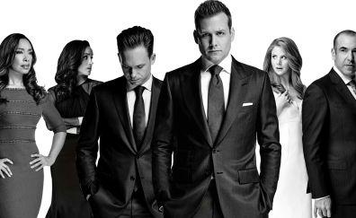 Suits TV series, casts, monochrome