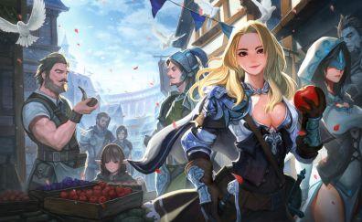 Warriors, fantasy, artwork
