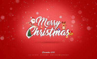 Merry Christmas, calendar, December