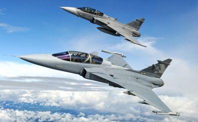 Saab jas 39 gripen fighters planes