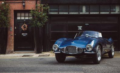 Aston Martin DB2, blue car, sports, race car