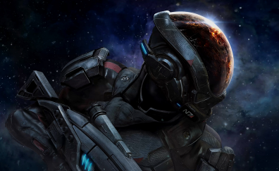 N7 soldier of Mass Effect: Andromeda video game