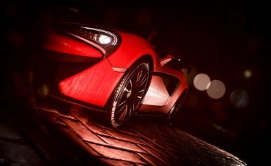 Need for speed, game, car, side view, red