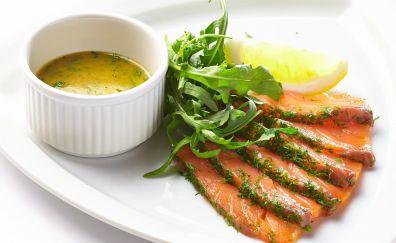 Fish, salmon, seafood, soup, dish