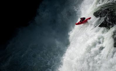 Sports river rafting wallpaper