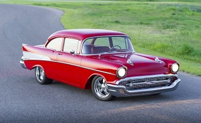 Chevrolet 210 classic red car