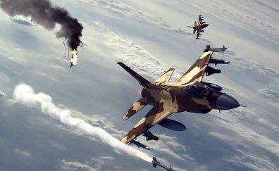 Military jet war plane