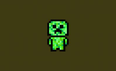 Minecraft video game, pixel artwork