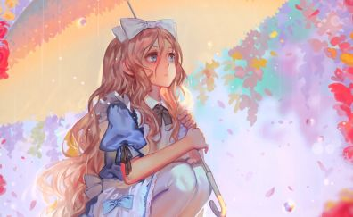 Alice, Alice in wonderland, blonde anime girl, artwork