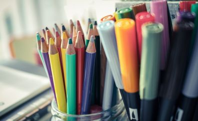 Pencils, colorful, stationery