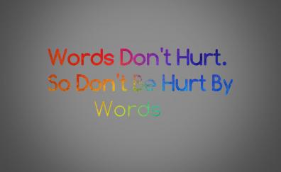 Words, quotes, typography