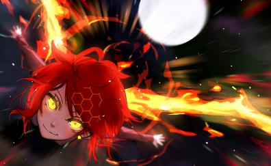 Yellow eye anime girl