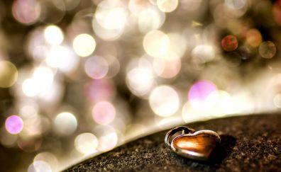 Love, jewelry, heart, bokeh
