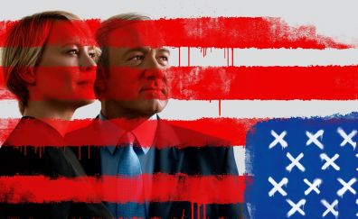 House of cards, TV show, Robin Wright, Kevin Spacey, poster