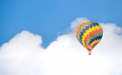 Hot air balloon ride sky clouds