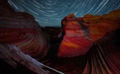 Arizona wave time lapse in night