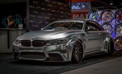 BMW M4, silver luxury car